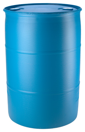 Capacity 55 Gallons Color Blue Or White Height 34 3 4 Diameter 23 1 Material High Density Polyethylene Nominal Tare Weight 22 Lbs